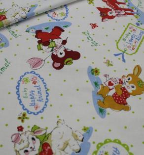 ткань для детского постельного белья в цветочек