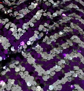 cf813b8b3dbb0b Сітка вишивка пайетками, срібло з фіолетовим | Textile Plaza