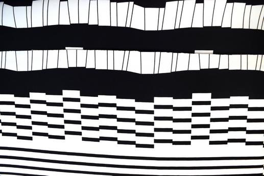 Барбі-Креп, арт. 10820/1/1, Абстракція (White-black) | Textile Plaza